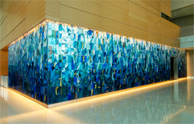 Glass art walls: Corporate