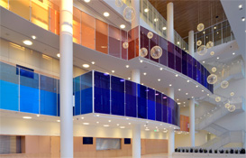 Eccles Theater Colored Glass Railings