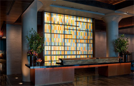 Glass art walls: Hospitality