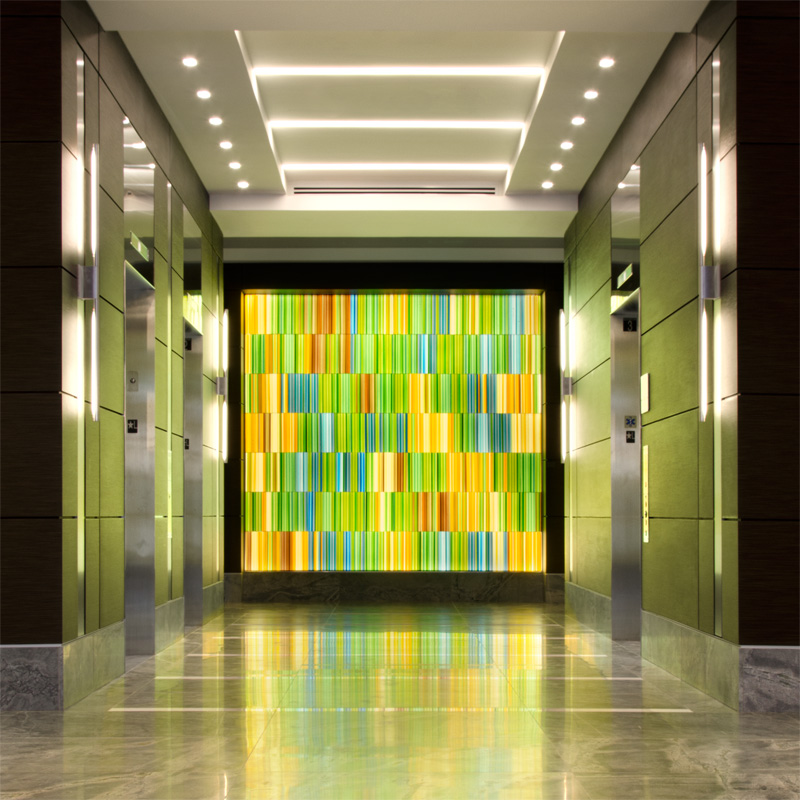 Fallsgrove Plaza Decorative Glass Wall